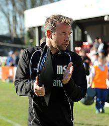 Bristol Rovers assistant manager, Marcus Stewart - Photo mandatory by-line: Neil Brookman/JMP - Mobile: 07966 386802 - 18/04/2015 - SPORT - Football - Dover - Crabble Athletic Ground - Dover Athletic v Bristol Rovers - Vanarama Football Conference