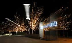 18.12.2015, Zürich, SUI, FIFA Hauptquartier in Zürich, im Bild The logo of the FIFA outside // the FIFA headquarters in Zürich, Switzerland on 2015/12/18. EXPA Pictures © 2015, PhotoCredit: EXPA/ Freshfocus/ Steffen Schmidt<br /> <br /> *****ATTENTION - for AUT, SLO, CRO, SRB, BIH, MAZ only*****