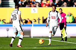 Max Lowe of Derby County passes the ball to Jacob Butterfield of Derby County - Mandatory by-line: Robbie Stephenson/JMP - 05/11/2016 - FOOTBALL - Molineux - Wolverhampton, England - Wolverhampton Wanderers v Derby County - Sky Bet Championship