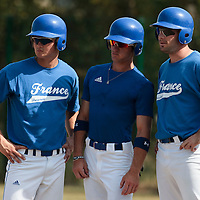 21 july 2010: Kenji Hagiwara, Joris Bert and Gaspard Fessy, of Team France are seen during a practice prior to the 2010 European Championship Seniors, in Neuenburg, Germany.