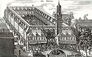 The Exchange in Amsterdam, The Rokin, built in 1613, by Henry Kayser, rebuilt in 1670 and demolished in 1836.