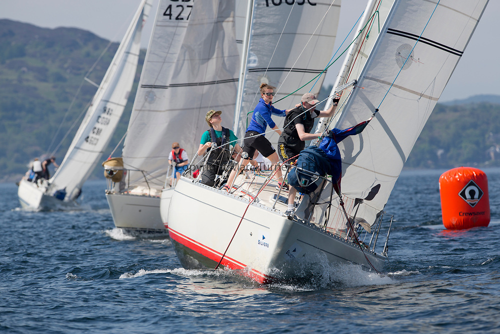 Silvers Marine Scottish Series 2017<br /> Tarbert Loch Fyne - Sailing<br /> <br /> IRL16010, Busy Beaver, M Bradshaw,J Gallagher, Cove Sailing Club, Sigma 33 OOD<br /> <br /> Credit Marc Turner / PFM