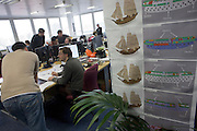Historical designers put the final touches to Empire at Creative Assembly, the PC gaming brand Total War 's Horsham offices in West Sussex, England. .Up to 65 designers, artists and animators have worked on Empire: Total War (about the formation of the United States - the road to independence) for 3 1/2 years. Historical accuracy is such that research into weaponry, ships and events is as realistic as possible with the employment of historians with PHDs and degrees. (Note to editors: High-resolution screen grabs of Empire are in the possession of writer Nina Ernst). ..