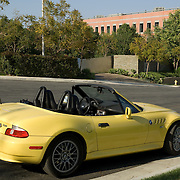Yellow BMW Convertible Z3. California,USA.