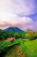 Arenal Volcano Observatory Lodge (Arenal Volcano in background), Costa Rica