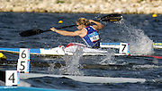 20040824 Olympic Games Athens Greece .[Canoe/Kayak Flatwater Racing]  Lake Schinias..K1 Women's 500m.GBR Lucy Hardy at the start. of her morning heat. .Photo  Peter Spurrier.email images@intersport-images.com...