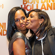 NLD/Amsterdam/20151207- Filmpremiere Bon Bini Holland, Jasmine Sendar en Edsilia Rombley