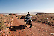 The next morning Bill Dragoo and I departed north away from the Grand Canyon. The wind was blowing 60+ mph and dust storms were everywhere.