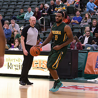 4th year forward Brian Ofori (11) of the Regina Cougars in action during the home game on November  5 at Centre for Kinesiology, Health and Sport. Credit: /Arthur Images