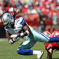 Dallas Cowboys receiver Dwayne Harris during an NFL football game between the Dallas Cowboys and the San Francisco 49ers at Candlestick Park on Sunday, Sept. 18, 2011 in San Francisco, CA..   (Photo/Alex Menendez)