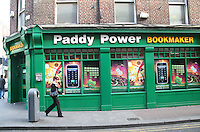 Paddy Power Bookmaker shop on Abbey Street in Dublin Ireland