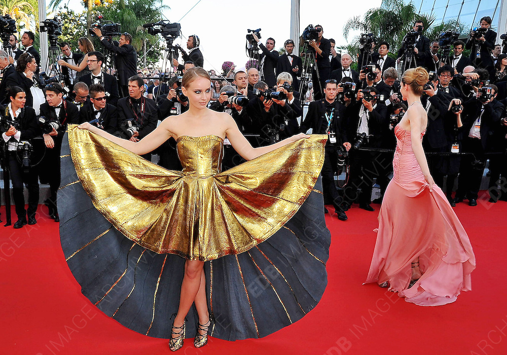 24.MAY.2012. CANNES<br /> <br /> LAURA WEISSBECKER AND OLGA SOROKINA ATTEND THE &quot;PAPERBOY&quot; FILM PREMIERE AT THE 2012 CANNES FILM FESTIVAL.<br /> <br /> BYLINE: EDBIMAGEARCHIVE.CO.UK<br /> <br /> *THIS IMAGE IS STRICTLY FOR UK NEWSPAPERS AND MAGAZINES ONLY*<br /> *FOR WORLD WIDE SALES AND WEB USE PLEASE CONTACT EDBIMAGEARCHIVE - 0208 954 5968*
