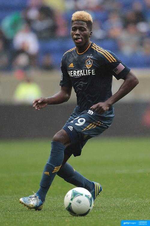 Gyasi Zardes, LA Galaxy, in action during the New York Red Bulls V Los Angeles Galaxy, Major League Soccer regular season match at Red Bull Arena, Harrison, New Jersey. USA. 19th May 2013. Photo Tim Clayton