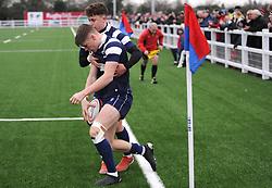 Jack Bates of Bristol Bears Academy U18 scores a try -Mandatory by-line: Nizaam Jones/JMP- 05/01/2019 - RUGBY - North Bristol RFC - Bristol, England - Bristol Academy U18 v Exeter Chiefs U18-U18 Academy League