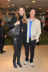 LISA BUTCHER and MICHAEL JACOBSON at the launch of the new John Lewis Beauty Hall, John Lewis, Oxford Street, London on 8th May 2012.