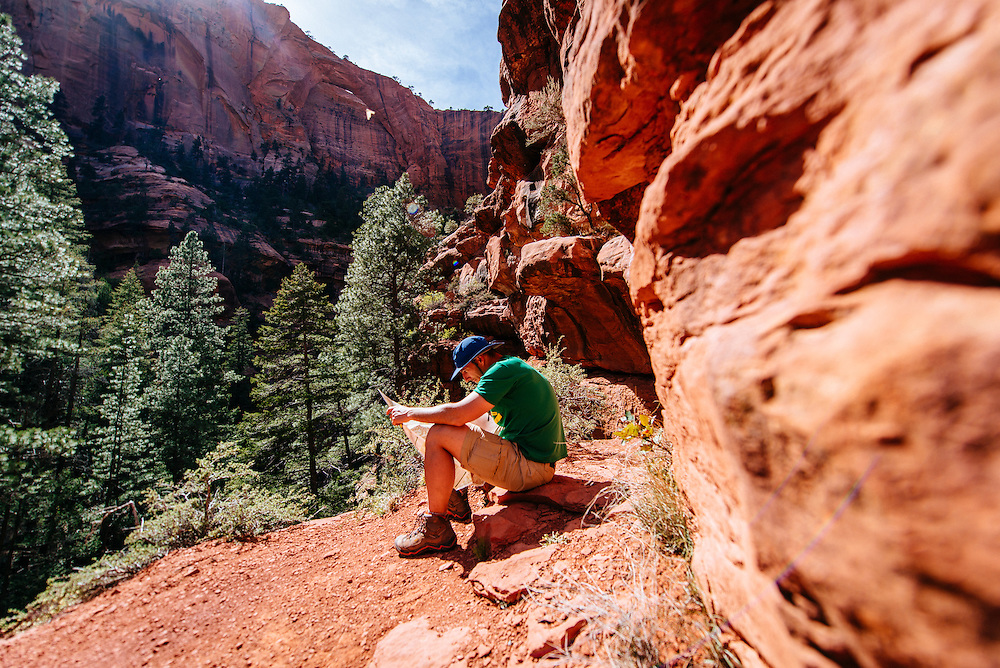Jeff looking for Kolob Arch in Zion National Park
