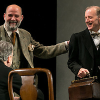 Waste by Harley Granvelle Barker;<br /> Directed by Roger Michell;<br /> Paul Hickey as Justin O'Connell;<br /> Andrew Havill as Sir Gilbert Wedgecroft;<br /> Lyttelton Theatre, National Theatre, London, UK;<br /> 9 November 2015