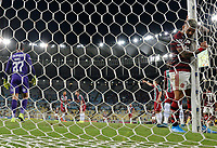 2019-10-20 Rio de Janeiro, Brazil soccer match between the teams of Flamengo and Fluminense , validated by the Brazilian Football Championship .in the photo Gabigol of Flamengo  club celebrates his goal Photo by André Durão / Swe Press Photo