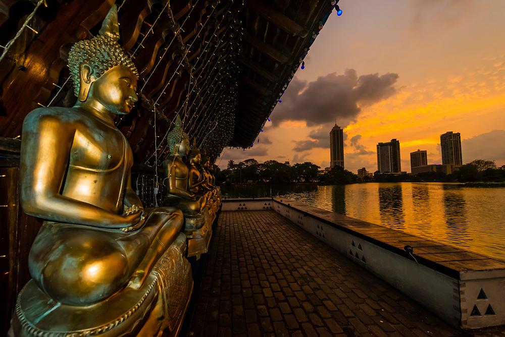 Seema Malaka Temple, Beira Lake, Colombo, Sri Lanka.
