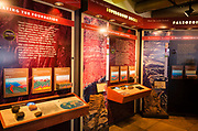 Interpretive display at the Yavapai Point Geology Museum, Grand Canyon National Park, Arizona USA