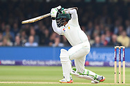 Azhar Ali of Pakistan drives on DAy Two of the NatWest Test Match match at Lord's, London<br /> Picture by Simon Dael/Focus Images Ltd 07866 555979<br /> 25/05/2018