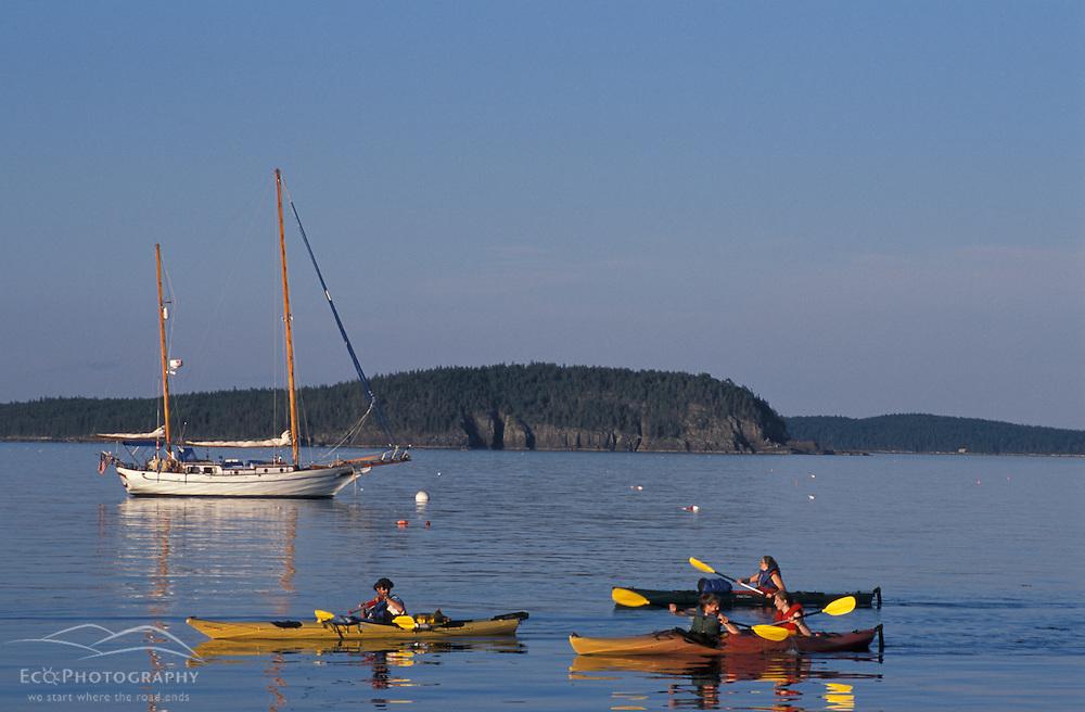 Kayaking in Bar Harbor. The Porcupine Islands.