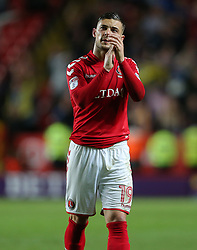Jake Forster-Caskey of Charlton Athletic after the match - Mandatory by-line: Paul Terry/JMP - 10/05/2018 - FOOTBALL - The Valley - Charlton, London, England - Charlton Athletic v Shrewsbury Town - Sky Bet League One