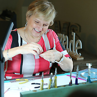 Eventhough Teresa Mendenhall lives in Jackson she loves travling to Tupelo and spending time with her friends making jewelry for their business.