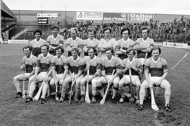 The Wexford team before the All Ireland Senior  Leinster Hurling Final Kilkenny v Wexford at Croke Park on the 24th of July 1977. Wexford 3-17 Kilkenny 3-14.