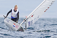 ENGLAND, Weymouth. 9th August 2011. Pre Olympic Test Event. Marit Bouwmeester, Laser Radial Dinghy, Netherlands.
