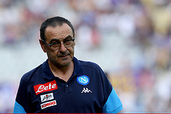 April 29, 2018 - Florence, Italy - Napoli trainer Maurizio Sarri during the Serie A match between ACF Fiorentina and SSC Napoli at Stadio Artemio Franchi on April 29, 2018 in Florence, Italy. (Credit Image: © Matteo Ciambelli/NurPhoto via ZUMA Press)