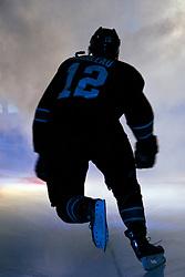 March 17, 2011; San Jose, CA, USA;  San Jose Sharks center Patrick Marleau (12) enters the ice before the game against the Minnesota Wild at HP Pavilion. Mandatory Credit: Jason O. Watson / US PRESSWIRE