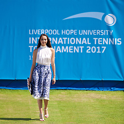 LIVERPOOL, ENGLAND - Saturday, June 17, 2017: Model Hannah Wall during Day Three of the Liverpool Hope University International Tennis Tournament 2017 at the Liverpool Cricket Club. (Pic by David Rawcliffe/Propaganda)