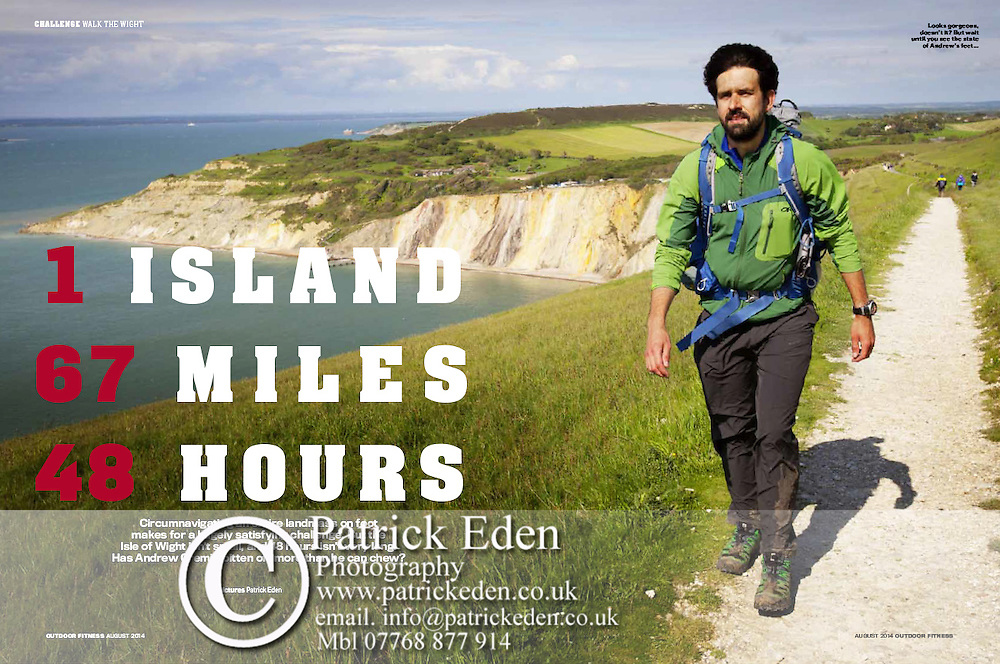 Outdoor Fitness Magazine. Andrew Cremin attempts to walk round the Isle of Wight in 48 hours.