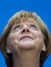 SEP 23 2013 Angela Merkel press conference in Berlin