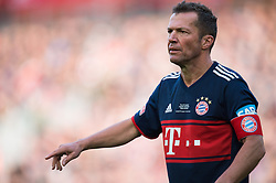 LIVERPOOL, ENGLAND - Saturday, March 24, 2018. Lothar Matthaus of FC Bayern Legends in action during the LFC Foundation charity match between Liverpool FC Legends and FC Bayern Munich Legends at Anfield. (Pic by Peter Powell/Propaganda)