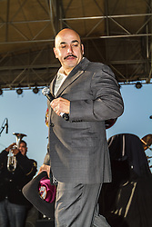 Fontana, CA/USA (Sunday, March 24, 2013) -  Mexican Regional musician Lupillo Rivera performs live at the NASCAR Sprint Cup Series Auto Club 400 race at Auto Club Speedway on Sunday, March 24.  PHOTO © Eduardo E. Silva/SILVEX.PHOTOSHELTER.COM.