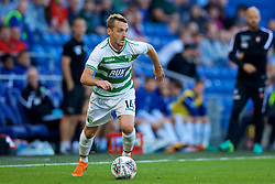 CARDIFF, WALES - Thursday, August 9, 2018: The New Saints FC's Jamie Mullan during the UEFA Europa League Third Qualifying Round 1st Leg match between The New Saints FC and FC Midtjylland at Cardiff City Stadium. (Pic by David Rawcliffe/Propaganda)
