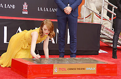 Ryan Gosling and Emma Stone's Hand And Footprint Ceremony in Los Angeles, California. 07 Dec 2016 Pictured: Emma Stone. Photo credit: Bauer Griffin / MEGA TheMegaAgency.com +1 888 505 6342