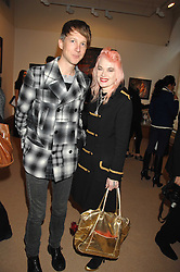 JEFFERSON HACK and PAM HOGG at a private view of Paul Simonon's recent paintings held at Thomas Williams Fine Art, 22 Old Bond Street, London on 15th April 2008.<br />