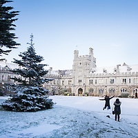 FREE IMAGE- NO REPRO FEE. Due to Extreme weather conditions fewer than normal students & staff were able to get to University College Cork today. Those who did brave the elements were treated to a Winder Wonderland on the historic Campus. Photographed were: Photo By Tomas Tyner, UCC.