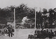 In the early years the GAA organised athletic meetings. The Photo shows Tipperary's James M Ryan from Ballyslatteen, New Inn, setting a world high jump record in Tipperary town in 1895.