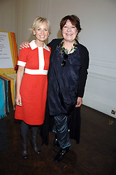 Left to right, actress LISA MAXWELL and actress ROBERTA TAYLOR at a lunch in aid of African Solutions To African Problems held at Il Bottaccio, 9 Grosvenor Place, London on 20th May 2008.<br /><br />NON EXCLUSIVE - WORLD RIGHTS