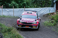 2019-09-07 | Linköping, Sweden: Martin Hagman / Jörgen Fornander during East Rally Sweden / Rally SM  at Linköping ( Photo by: Simon Holmgren | Swe Press Photo )<br /> <br /> Keywords: Linköping, Linköping, Rally, East Rally Sweden / Rally SM, ,