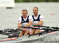 Photo: Chris Ratcliffe.<br /> <br /> World Rowing Championships. 24/08/2006.<br /> <br /> Norway Men's Double Sculls team competing, from left, Morten Admansen, Nils-Torolv Simonsen.