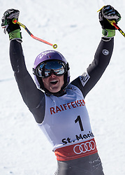 16.02.2017, St. Moritz, SUI, FIS Weltmeisterschaften Ski Alpin, St. Moritz 2017, Riesenslalom, Damen, 2. Lauf, im Bild Tessa Worley (FRA, Damen Riesenslalom Weltmeisterin und Goldmedaille) // ladie's Giant Slalom world Champion and Gold medalist Tessa Worley of France reacts after her 2nd run of ladie's Giant Slalom of the FIS Ski World Championships 2017. St. Moritz, Switzerland on 2017/02/16. EXPA Pictures © 2017, PhotoCredit: EXPA/ Johann Groder
