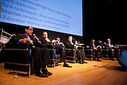"""Keith Kerman, Chief Fleet Officer, NYC, speaks on the panel, """"Trucks, Taxis, Rickshaws and More"""" during Manhattan Chamber of Commerce's Transportation Transformation Global Summit at NYIT in New York on April 26, 2012."""