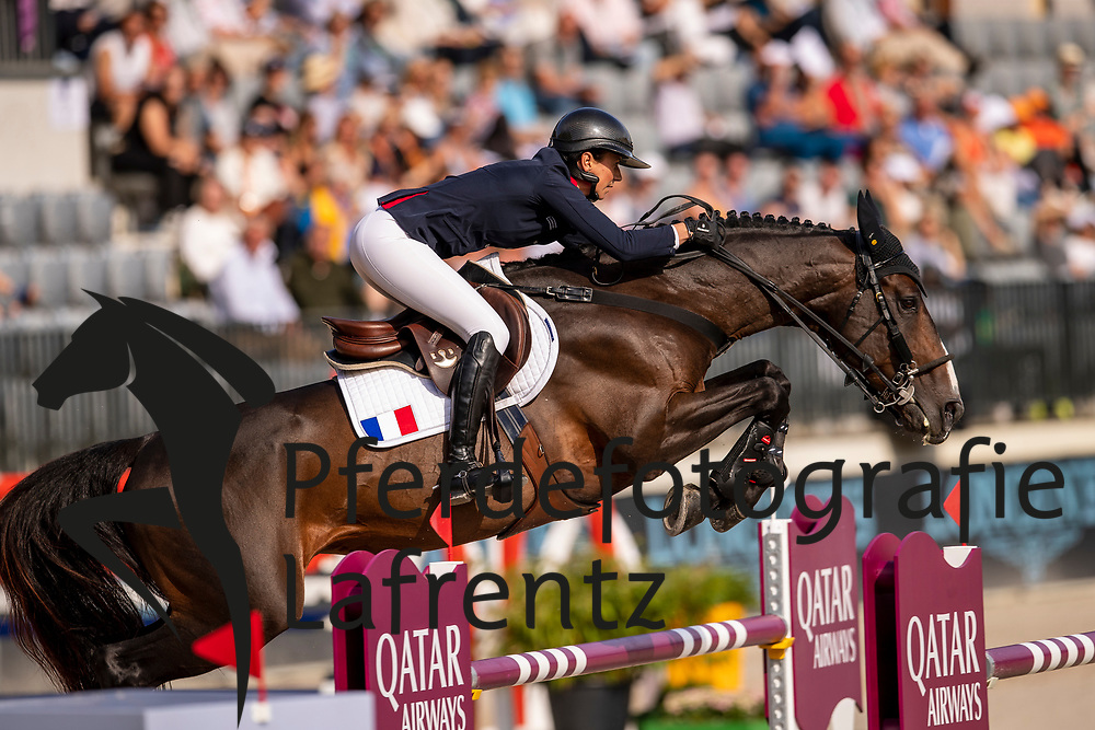 Leprevost Penelope, FRA, Vancouver de Lanlore<br /> Rotterdam - Europameisterschaft Dressur, Springen und Para-Dressur 2019<br /> Longines FEI Jumping European Championship - 1st part - speed competition against the clock<br /> 1. Runde Zeitspringen<br /> 21. August 2019<br /> © www.sportfotos-lafrentz.de/Dirk Caremans