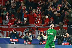October 18, 2017 - Moscow, Russia - October 17, 2017. Russia, Moscow, Otkritie Arena Stadium. Spartak's player Aleksandr Selikhov  in the 2017/18 UEFA Champions League's group stage match between Spartak (Moscow, Russia) and Sevilla FC  (Credit Image: © Russian Look via ZUMA Wire)