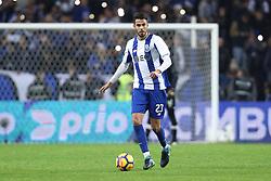 January 7, 2018 - Porto, Porto, Portugal - Porto's Mexican defender Diego Reyes in action during the Premier League 2017/18 match between FC Porto and Vitoria SC, at Dragao Stadium in Porto on January 7, 2018. (Credit Image: © Dpi/NurPhoto via ZUMA Press)